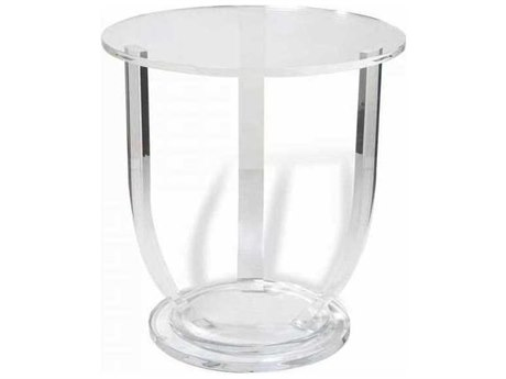 Interlude Home Clear 28'' Wide Round Foyer Table IL158089