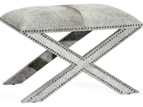 Interlude Home Kenzie Natural Grey / Gunmetal Accent Stool
