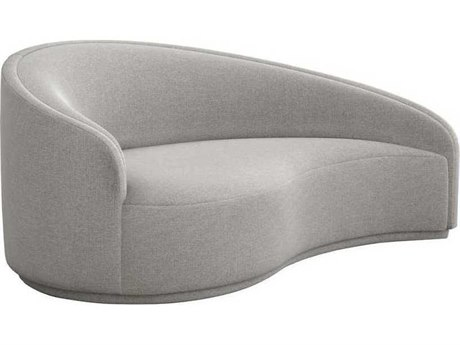 Interlude Home Pure Grey Loveseat Sofa