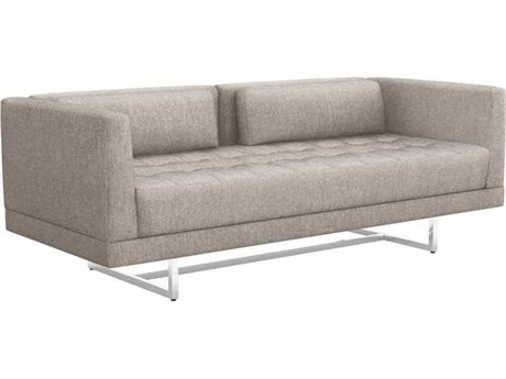 Interlude Home Bungalow/ Polished Nickel Loveseat Sofa IL1990112