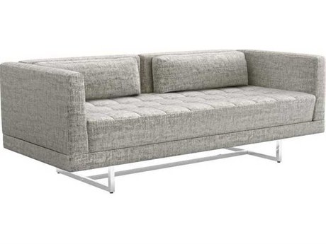 Interlude Home Feather/ Polished Nickel Loveseat Sofa IL1990114