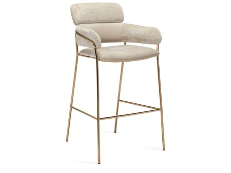 Interlude Home Marino Beige Latte Bar Stool IL145183