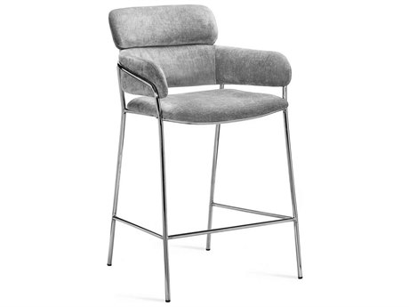 Interlude Home Marino Ocean Grey Counter Stool IL145186