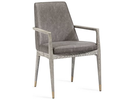 Interlude Home Marseille Distressed Charcoal / Taupe Ceruse Arm Dining Chair