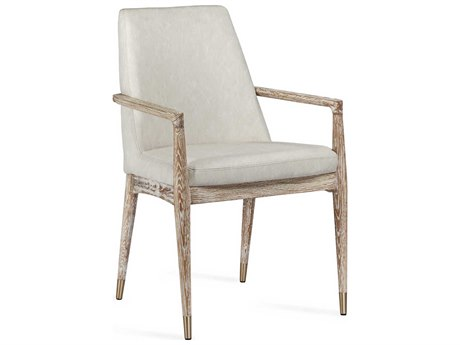 Interlude Home Marseille Distressed White / Whitewash Arm Dining Chair