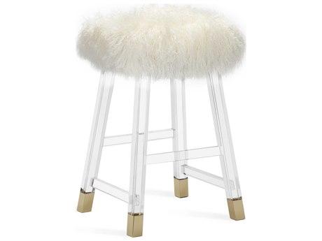 Interlude Home Reva Cream Sheepskin Counter Stool