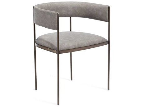 Interlude Home Ryland Antique Bronze / Distressed Charcoal Arm Dining Chair
