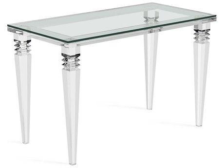 Interlude Home Savannah Clear 48'' x 24'' Rectangular Desk IL188056