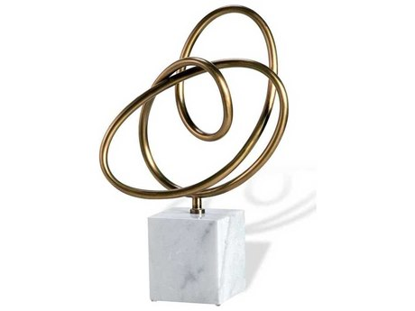 Interlude Home Antique Brass/ White Sculpture