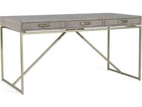 Interlude Home Sorrel Grey/ Champagne Silver Secretary Desk