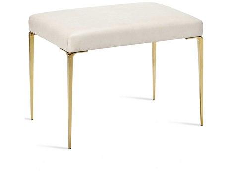 Interlude Home Stiletto Cream Leather / Brass Stool IL175151