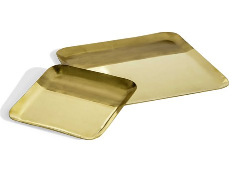 Interlude Home Zola Matte Brass / Shiny Serving Tray IL989061