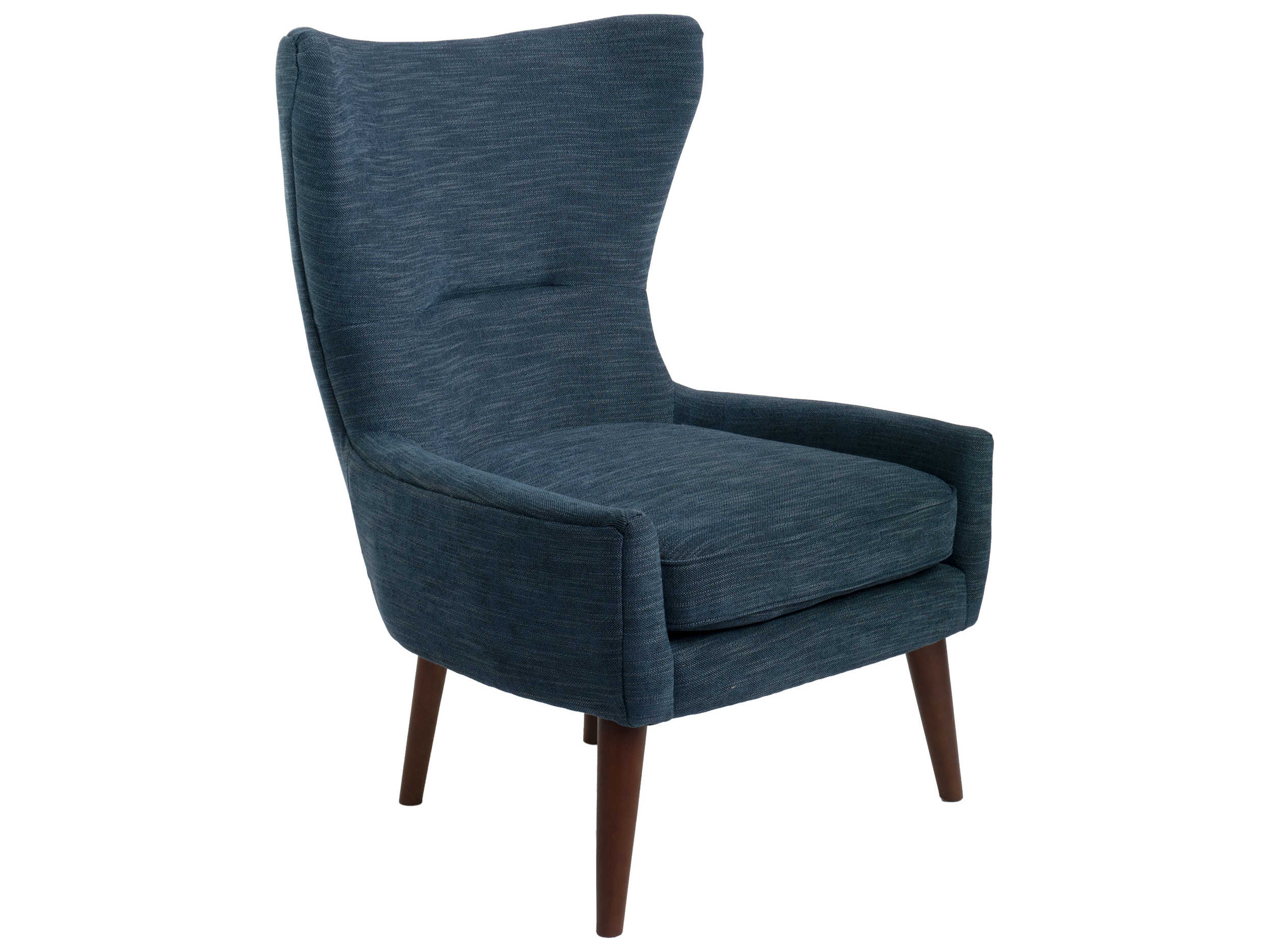 Picture of: Ion Design Dark Blue Walnut Accent Chair Idp27399
