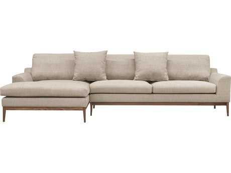 ION Design Holland Sectional Sofa (Venga 004 Mole Fabric & Walnut Base / Legs) (Left Arm Facing)