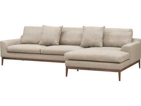 ION Design Holland Sectional Sofa (Venga 004 Mole Fabric & Walnut Base / Legs) (Right Arm Facing) IDP21571