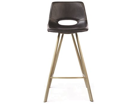 ION Design Hopkins Matte Black Counter Stool (Set of 2) IDP25003