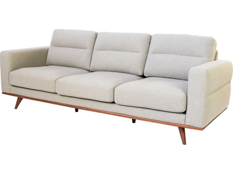 ION Design Laholm Grey / Walnut Sofa Couch