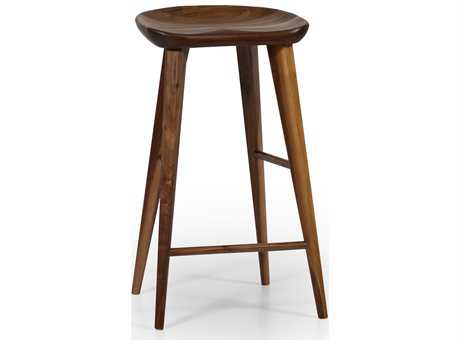 ION Design Taburet Walnut Counter Stool with Matte Finish IDP1002