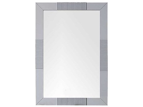 James Martin Furniture Brisbane Silver Gray Wall Mirror JS516M30SL