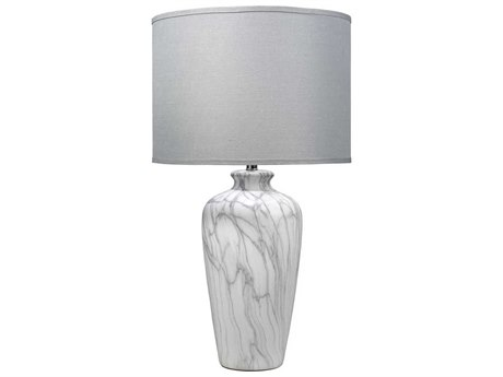 Jamie Young Company Bedrock Marbled Ceramic Buffet Lamp JYC9BEDRMAD210L