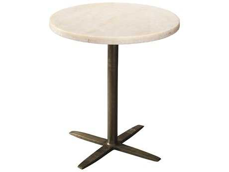 Jamie Young Company Berlin 22'' Round White Marble Pedestal Table