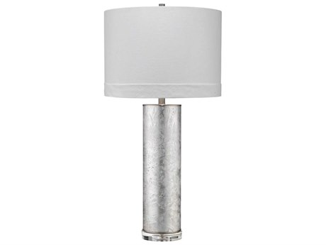 Jamie Young Company Silver Glass One-Light Buffet Lamp JYC9FEATHTLSL