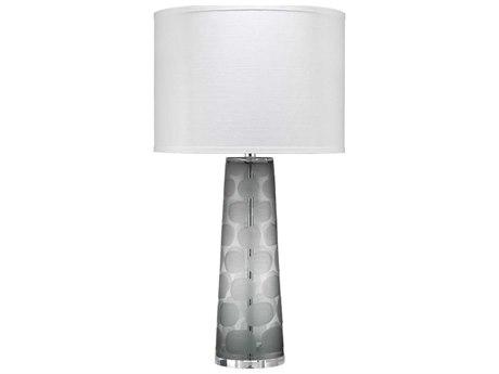 Jamie Young Company Grey Glass One-Light Buffet Lamp JYC9PEBBLETLGR
