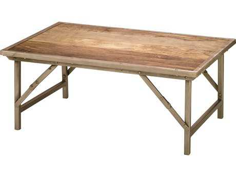 Jamie Young Company Campaign 40'' x 26'' Rectangular Natural Wood Coffee Table JYC20CAMPCTNA