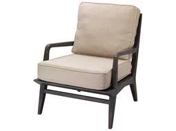 Carlo Dark American Oak & Off White Linen Accent Chair