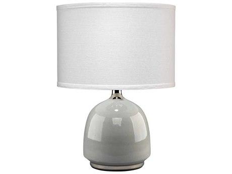 Jamie Young Company Carlton Light Grey Ceramic & Chrome Table Lamp JYC9CARLGRD131M