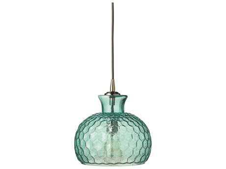 Jamie Young Company Clark Aqua Glass 10'' Wide Mini-Pendant JYC5CLARMDAQ