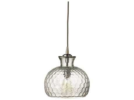 Jamie Young Company Clark Clear Glass 10'' Wide Mini-Pendant JYC5CLARMDCL