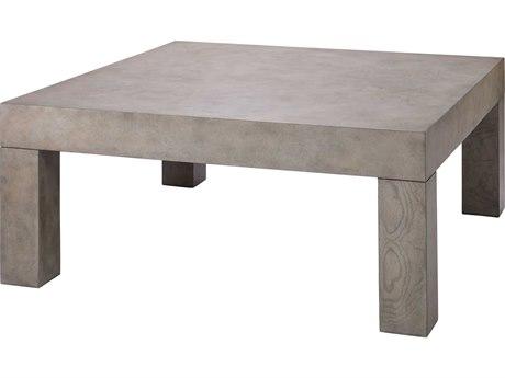 Jamie Young Company Grey Burl Wood Veneer 39'' Wide Square Coffee Table