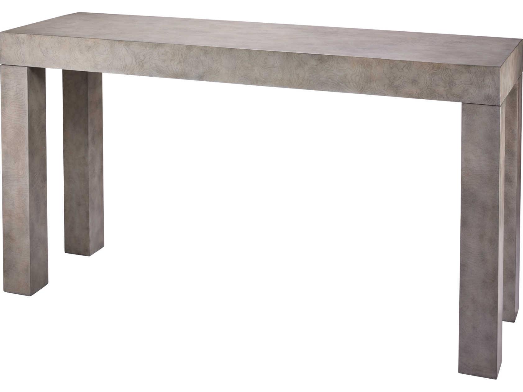 Jamie Young Company Grey Burl Wood Veneer 60 Wide Rectangular Console Table