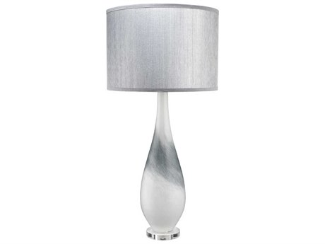 Jamie Young Company Dewdrop Grey Swirl Glass Buffet Lamp JYC9DEWDROPTLGR