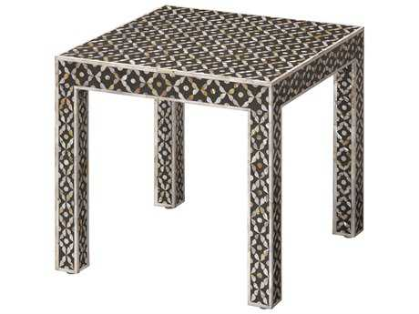 Jamie Young Company Evelyn 18'' Square Mother of Pearl Inlay Side Table