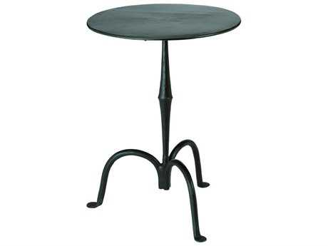Jamie Young Company Ferrus 18'' Round Gun Metal Pedestal Table JYC20FERRSTGM