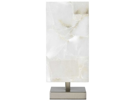 Jamie Young Company Ghost Axis Alabaster & Antique Silver Table Lamp JYC1GHAXTLAS