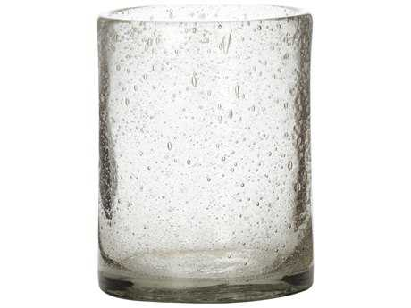 Jamie Young Company Clear Seeded Glass Hurricanes (Set of 3)