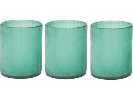 Jamie Young Company Sea Glass Hurricanes (Set of 3) JYC7HURRSMSG