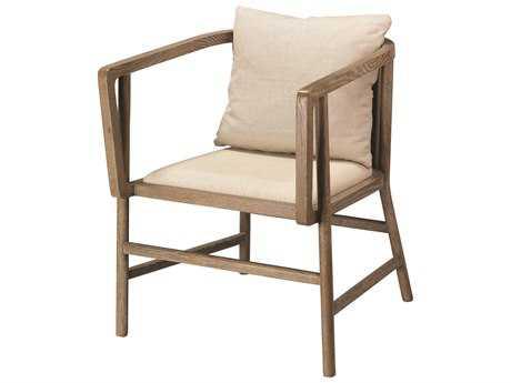 Jamie Young Company Minimalist Grayson Wood & Linen Arm Chair