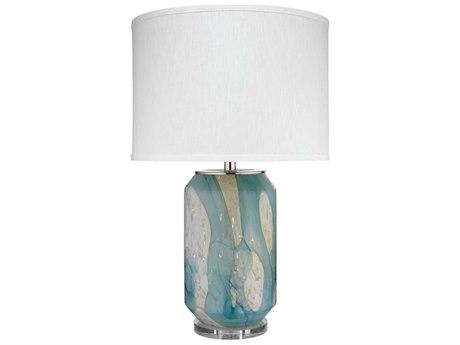 Jamie Young Company Helen Pale Blue Glass Buffet Lamp JYC9HELENTLBLUE