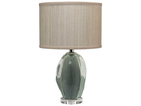 Jamie Young Company Hermosa Teal Crackle Glaze Table Lamp JYC9HERMTED216P