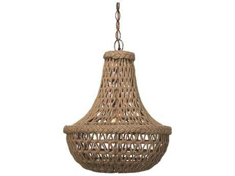 Jamie Young Company Macrame Jute 18'' Wide Pendant