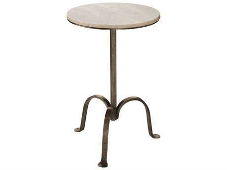 Jamie Young Company Left Bank 14.5'' Round Gun Metal Pedestal Table