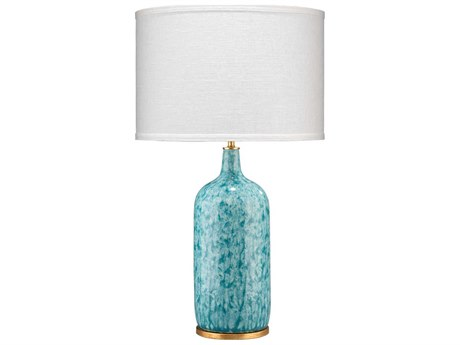 Jamie Young Company Madeline Blue Reactive Glaze & Gold Leaf Buffet Lamp JYC9MADEBLD131M