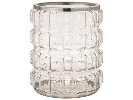 Jamie Young Company Madison Clear Glass & Nickel Hurricane Candle Holder JYC7MADIHUNI