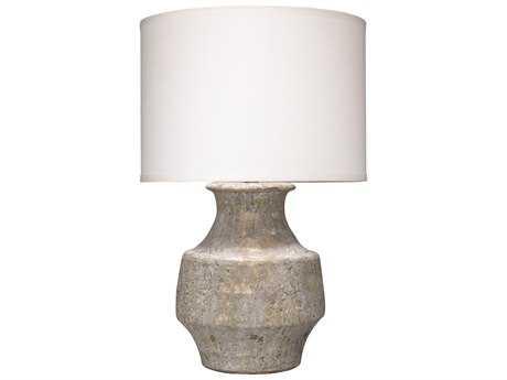 Jamie Young Company Masonty Grey Table Lamp with White Shade JYC9MASOGRD131C
