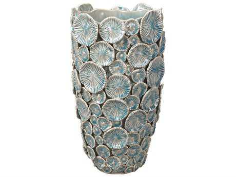 Jamie Young Company Mermaid Blue Ceramic Floral Vase JYC7MERMVABL