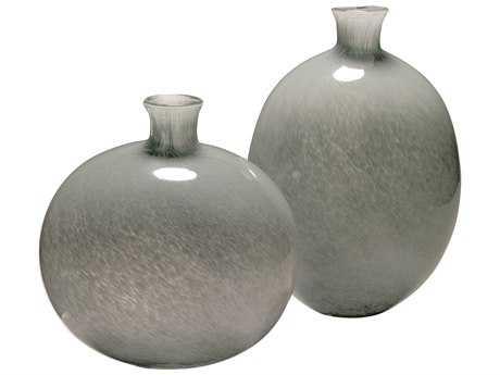 Jamie Young Company Minx Grey Glass Decorative Vases (Set of 2) JYC7MINXVAGR